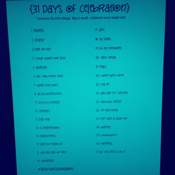 #31daysofcelebration