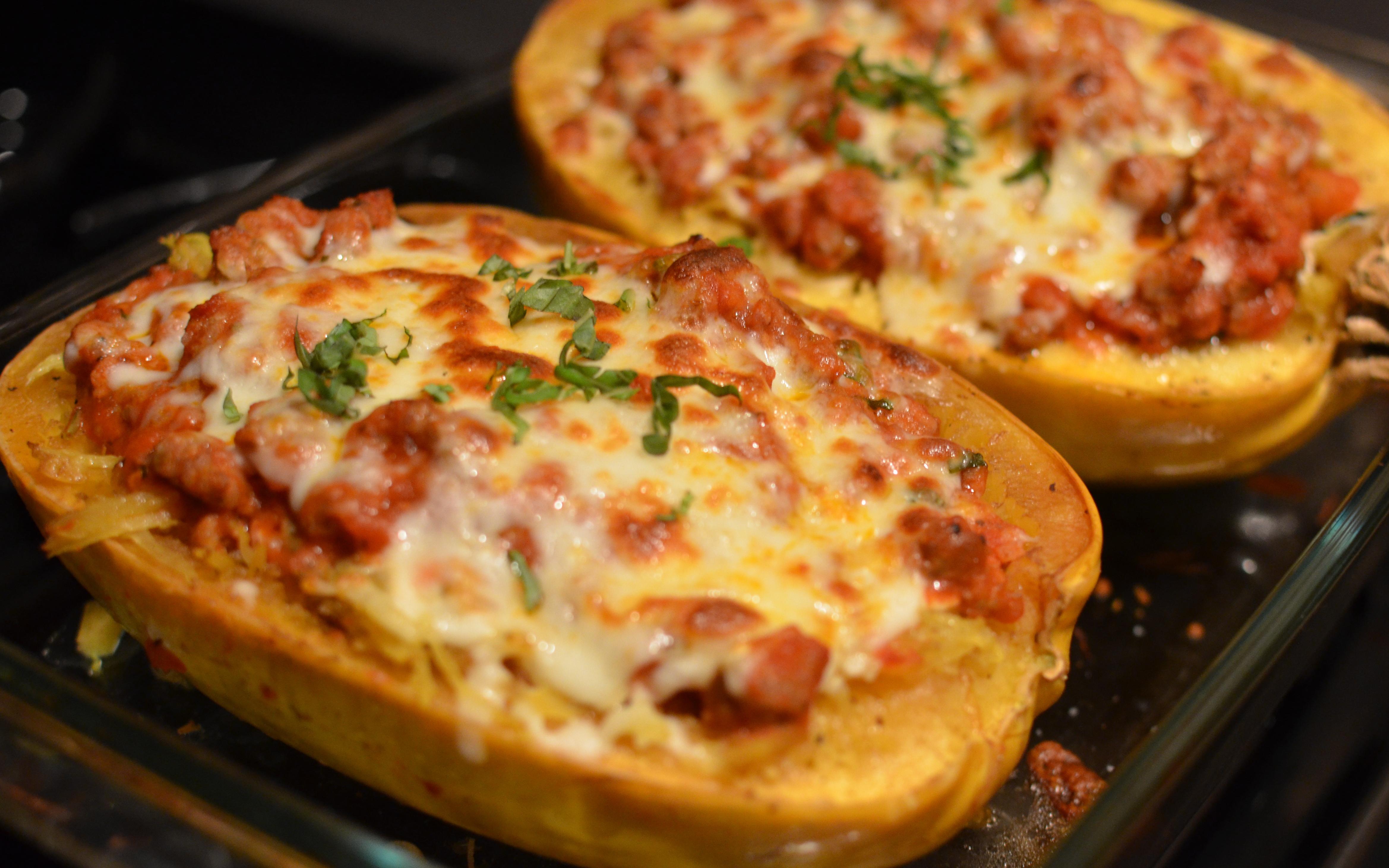 stuffed spaghetti squash: lasagna style | Celiac in the City
