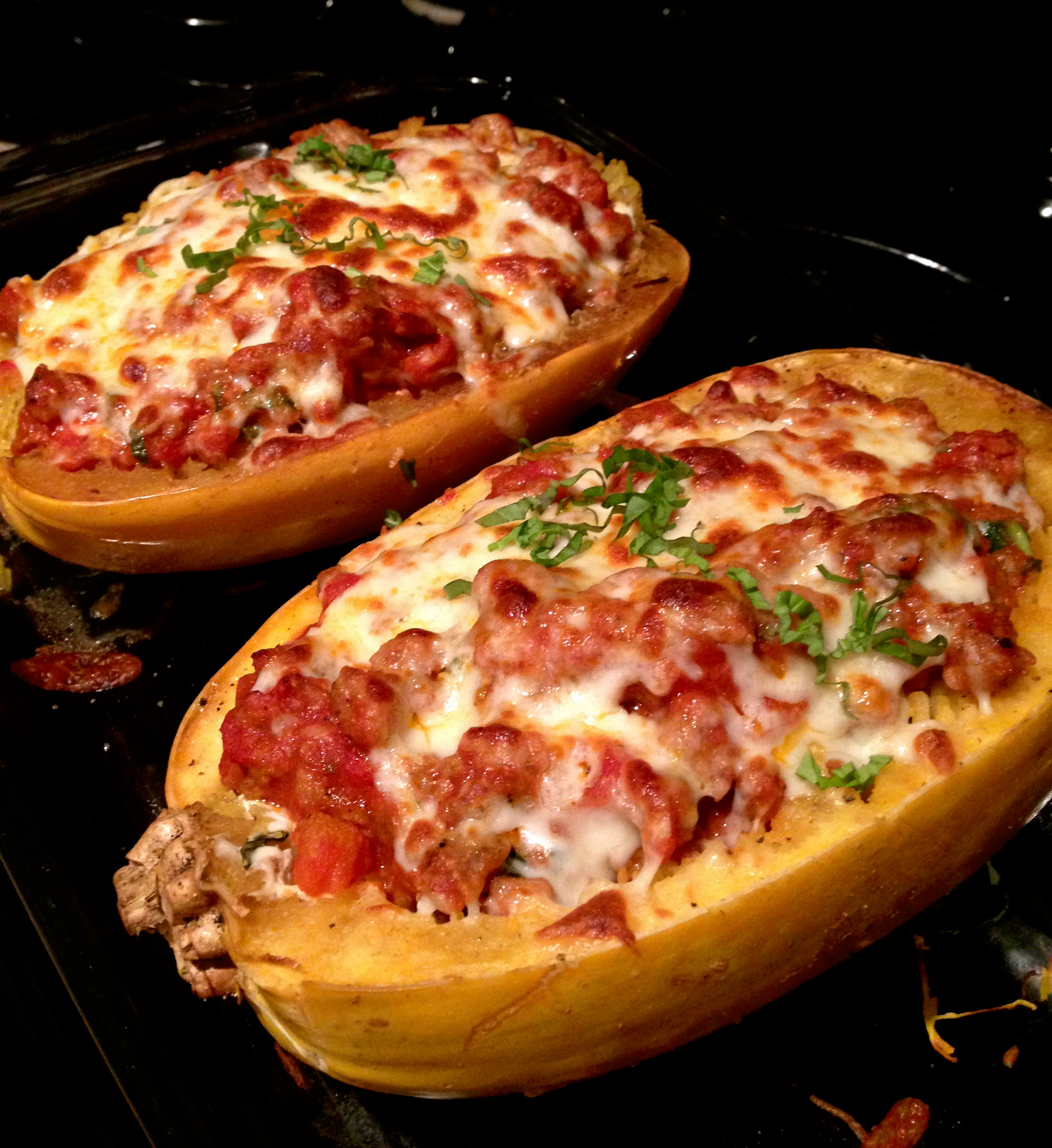stuffed spaghetti squash: lasagna style | Celiac in the City