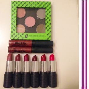 red apple lipstick christmas collection