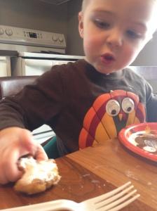 Cooper eats gluten free cookies