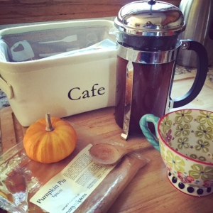 coffee lovers: add pumpkin spices to coffee grounds before brewing.